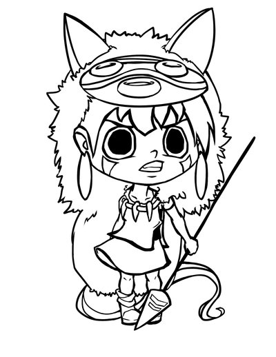 Princess Mononoke Drawing At GetDrawings