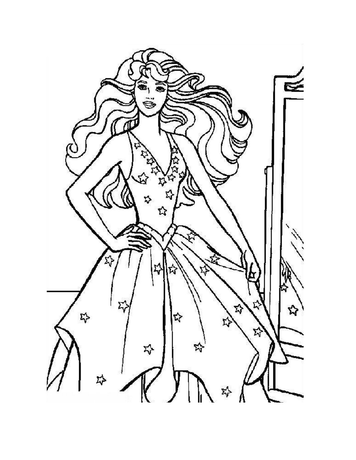Princess Outline Drawing at GetDrawings.com | Free for ...