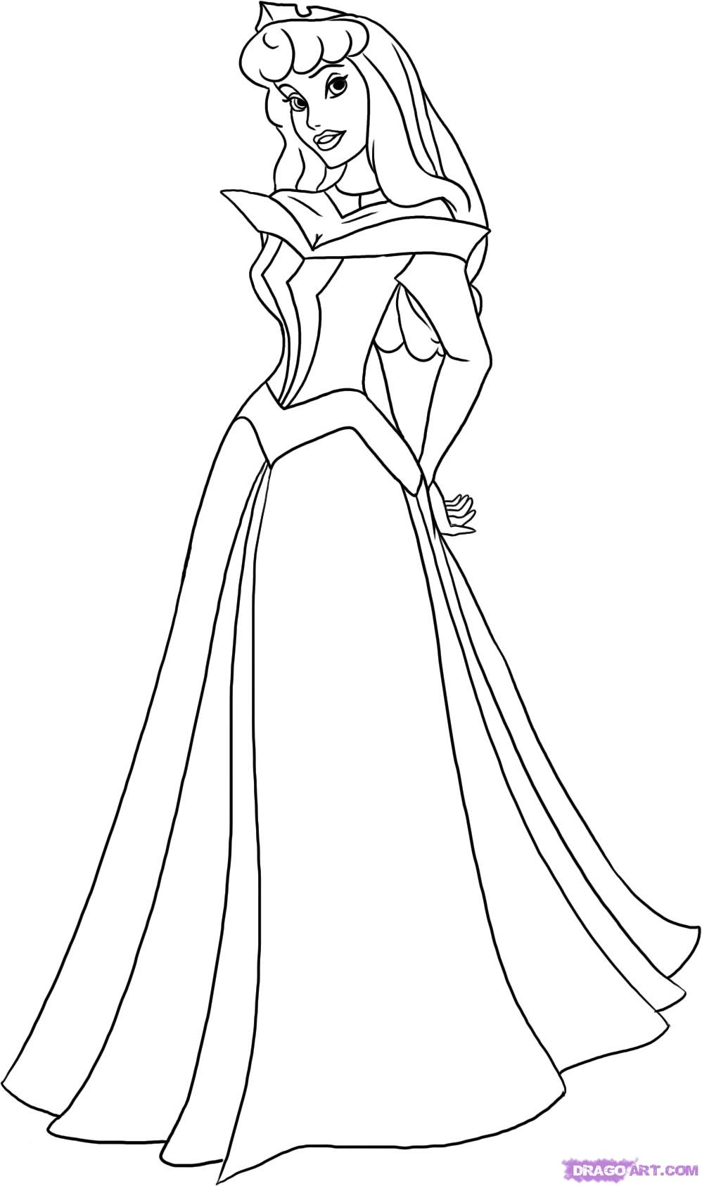 Princess Outline Drawing At Getdrawingscom  Free For Personal Use