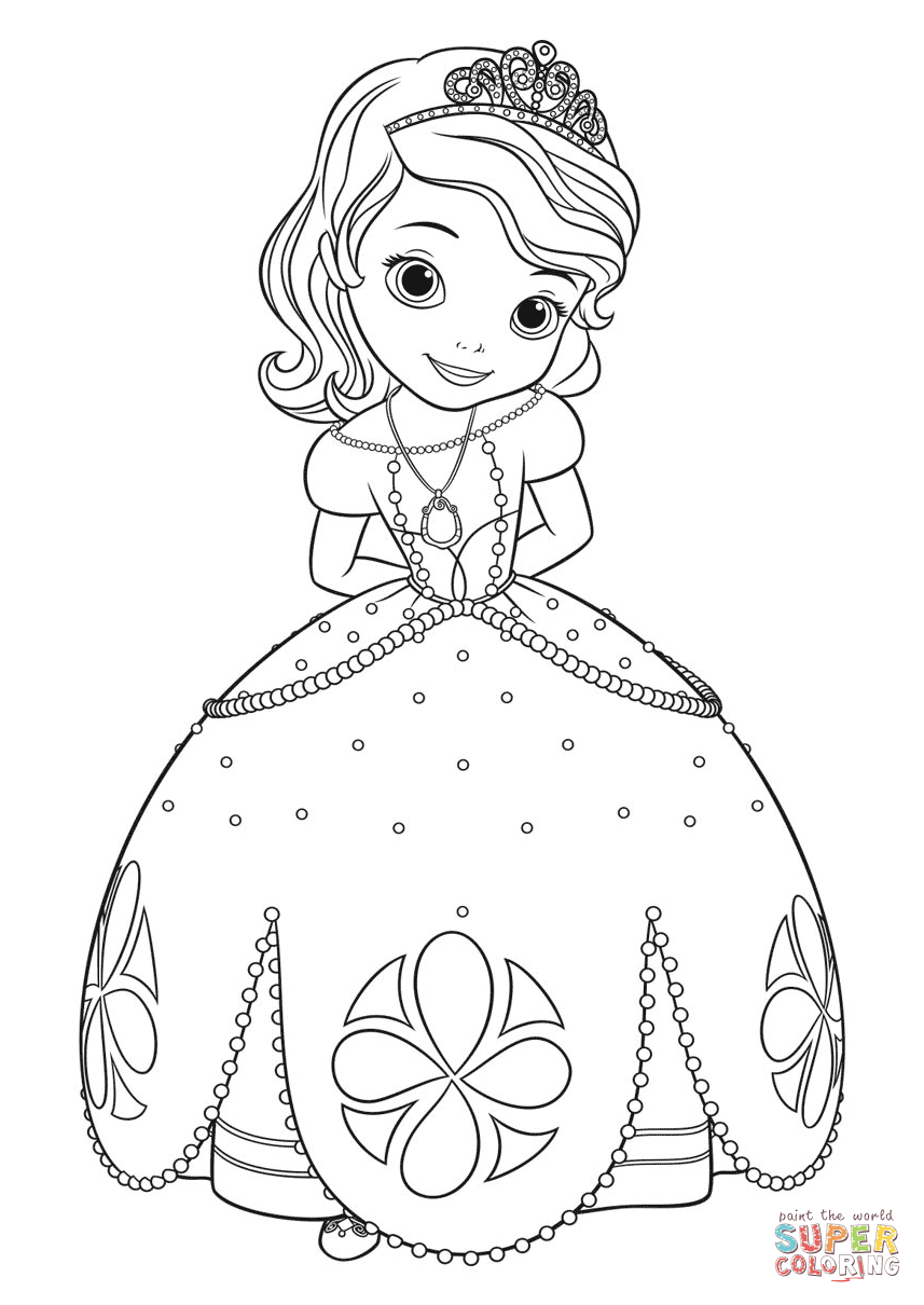 Princess Sofia Drawing at GetDrawings | Free download
