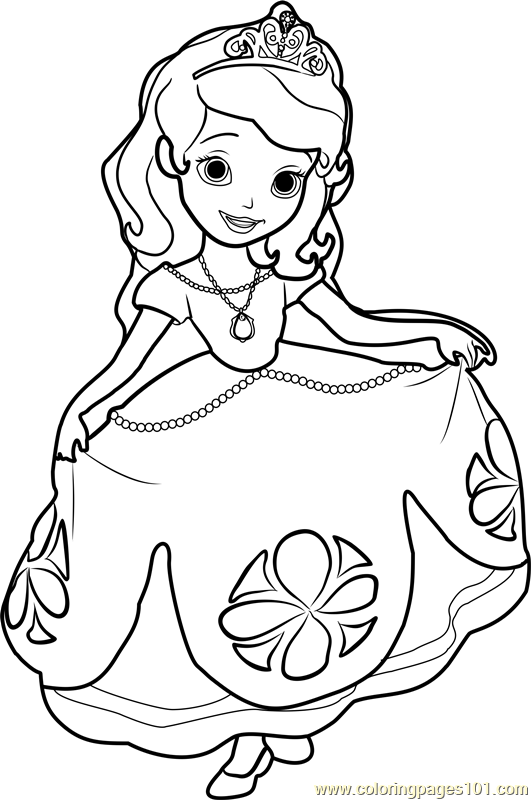 sophia coloring pages - princess sofia drawing at free for