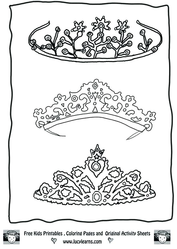569x800 Delightful Tiara Coloring Pages Fee King Crown Page For Kids Free