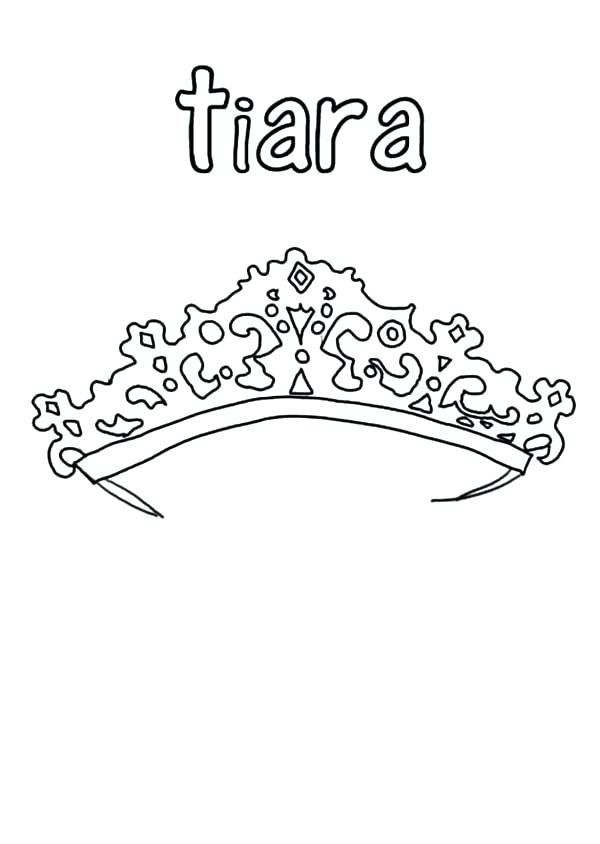 600x844 Princess Crown Coloring Page Interesting Princess Crown Coloring