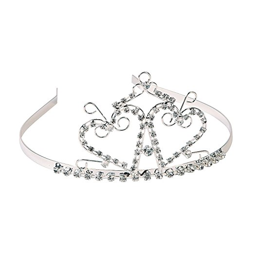 522x522 Fun Express Rhinestone Two Heart Princess Tiara Toys