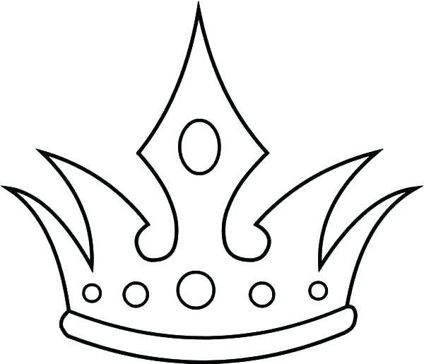 600x515 Princess Crown Coloring Page Princess Crown Coloring Page