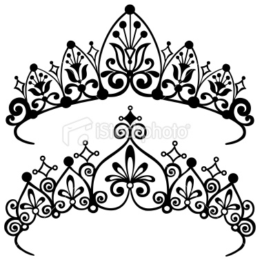 380x380 Princess Tiara Crowns Silhouette Vector Illustration. Princess
