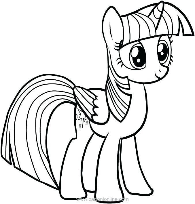 677x709 My Little Pony Twilight Sparkle Coloring Page Twilight Sparkle