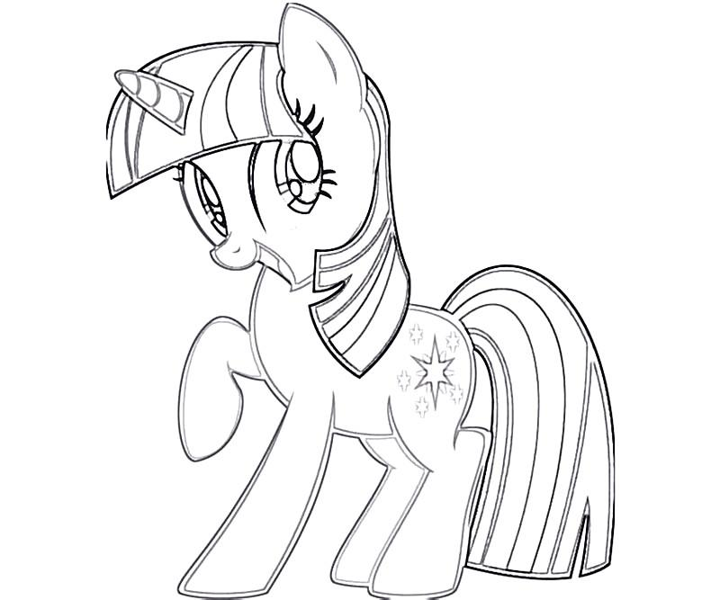 800x667 My Little Pony Twilight Sparkle Coloring Pages