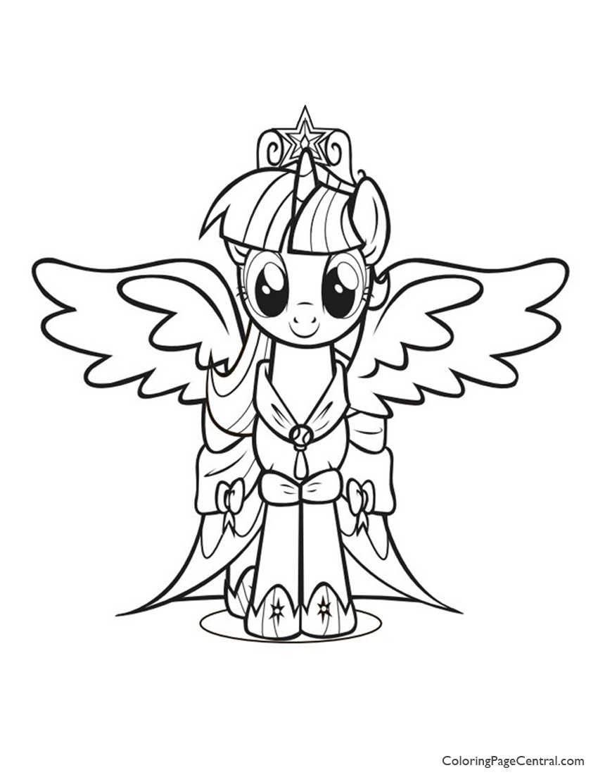 850x1100 My Little Pony Princess Twilight Sparkle 01 Coloring Page