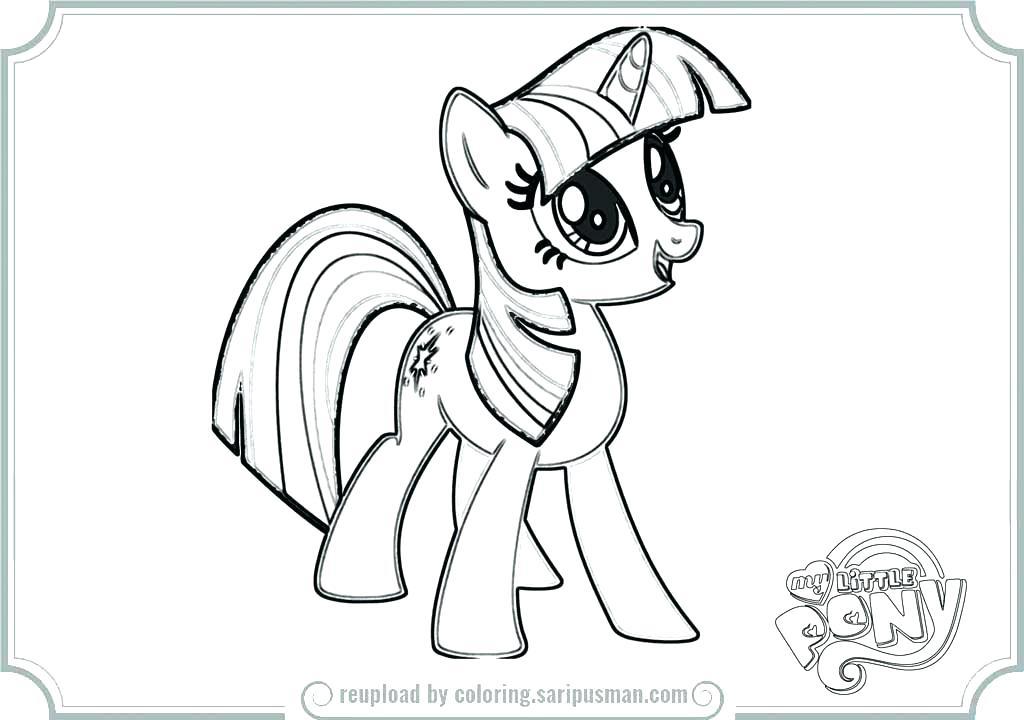 1024x720 Princess Twilight Sparkle Coloring Page My Little Pony Princess