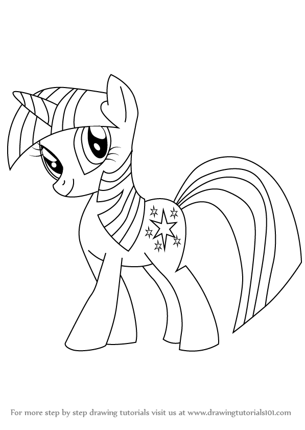 597x840 Learn How To Draw Twilight Sparkle From My Little Pony Friendship
