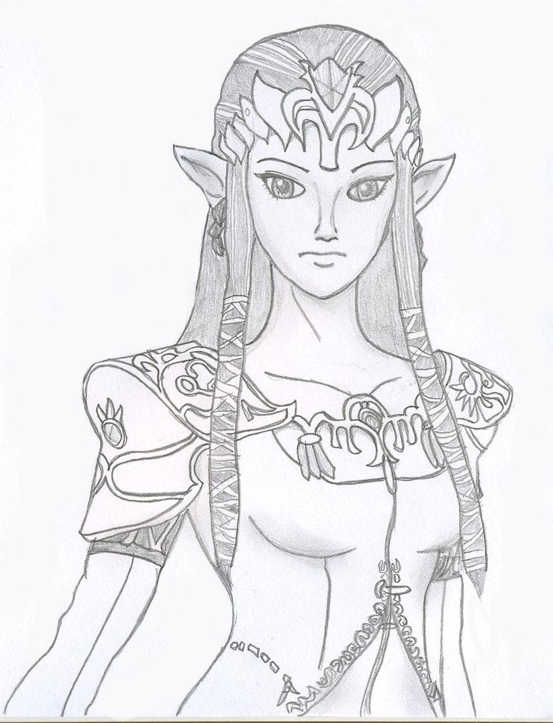 Princess Zelda Drawing at GetDrawings | Free download