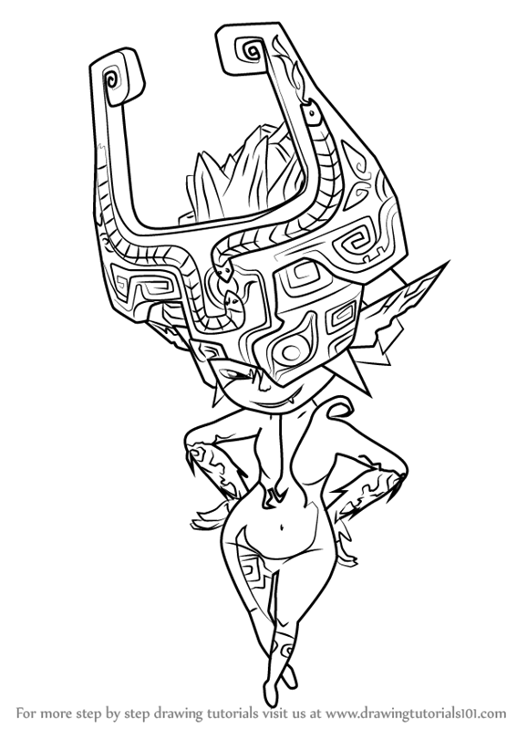 567x800 Learn How To Draw Midna From The Legend Zelda (The Legend