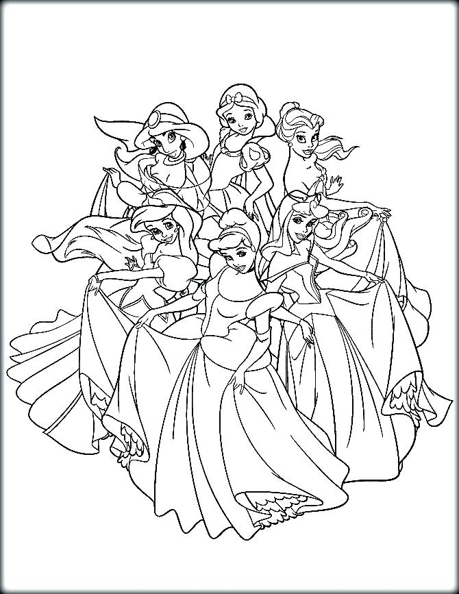 670x867 Disney Princess For Coloring Princess Coloring Pages Disney