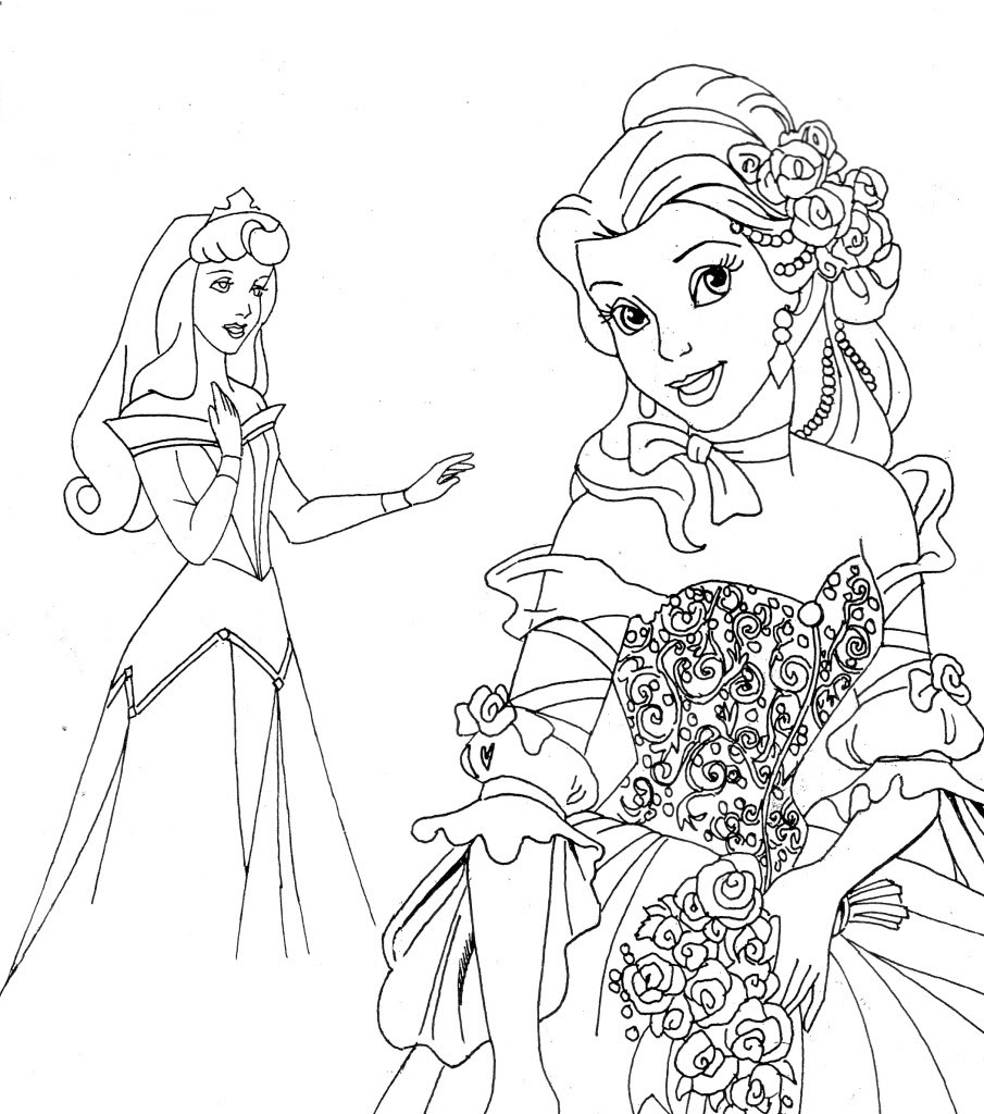 905x1024 Disney Princesses Coloring Pages Preschool To Funny Draw Paint