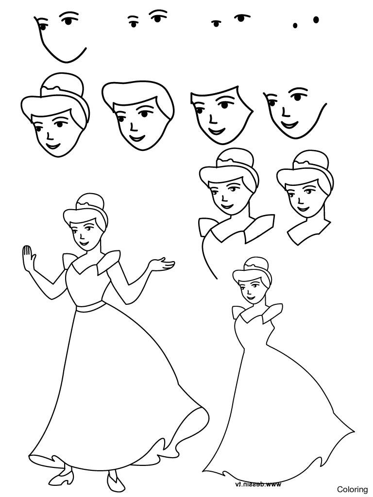 768x1024 How To Draw Cute Chibi Kawaii Princess Tiana Easy Step By Drawing