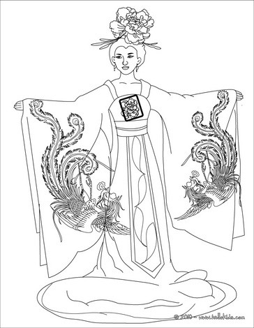 364x470 Chinese Princess Coloring Pages