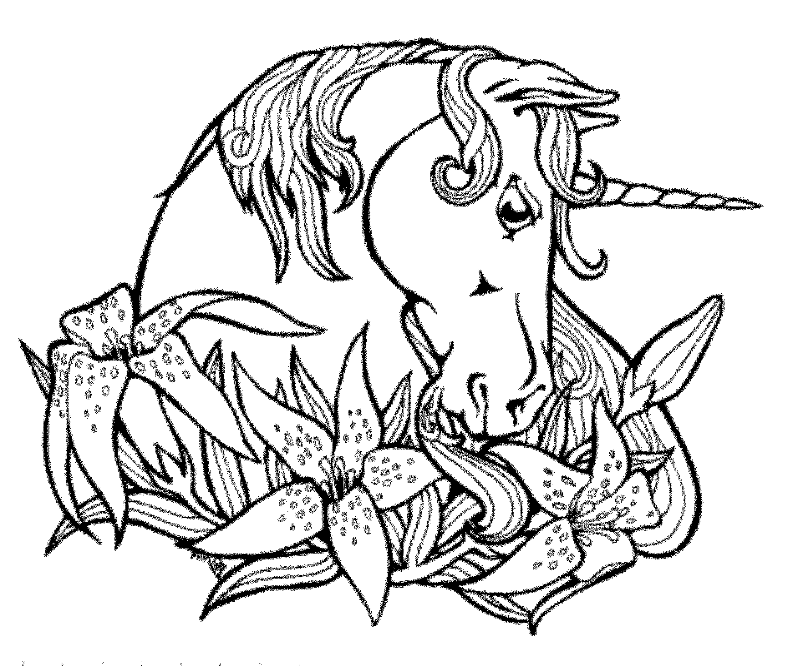 2551x2132 Helpful Unicorn Coloring Pages Print Download For Children