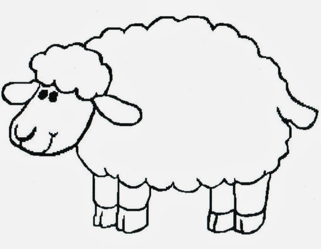 1023x793 Sheep Drawing For Kids