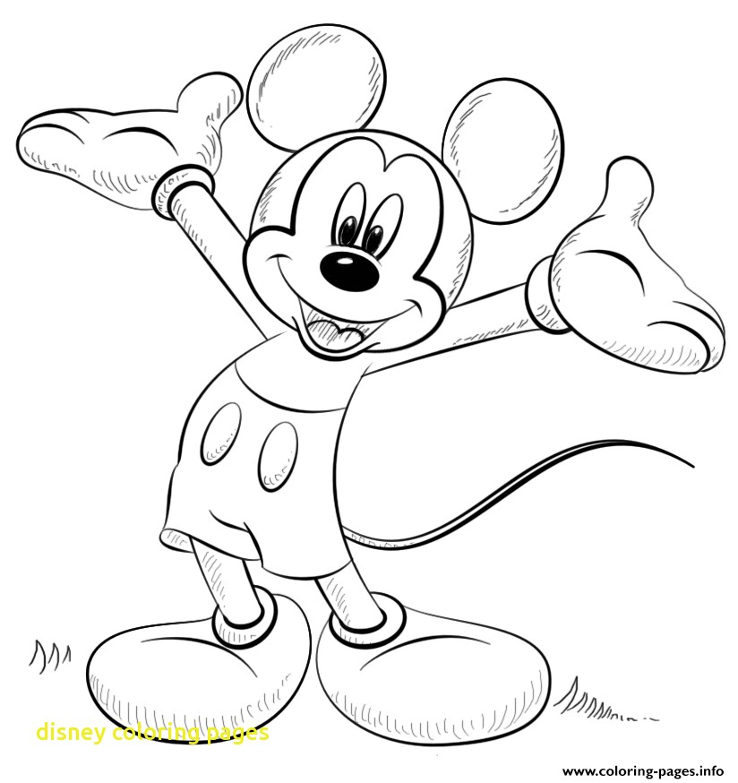 824x874 Disney Coloring Pages Printouts In Funny Draw Print With Free