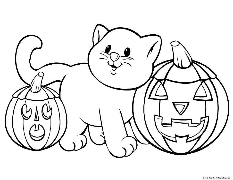 960x744 Lavishly Printouts To Color Free Halloween Az Coloring Pages