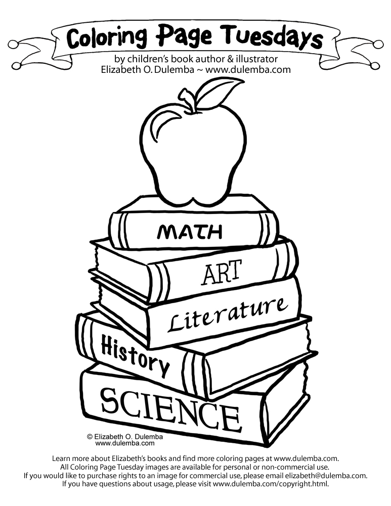 773x1000 Pictures Of Books To Color Coloring Page