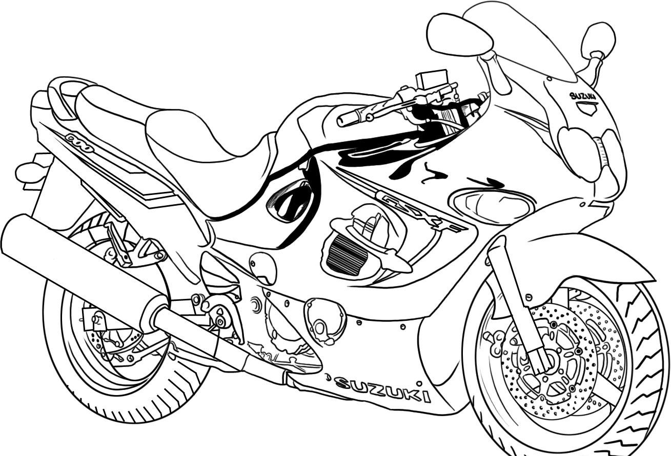 1309x891 Cool Motorcycle Printable Coloring Pages In Printable Coloring