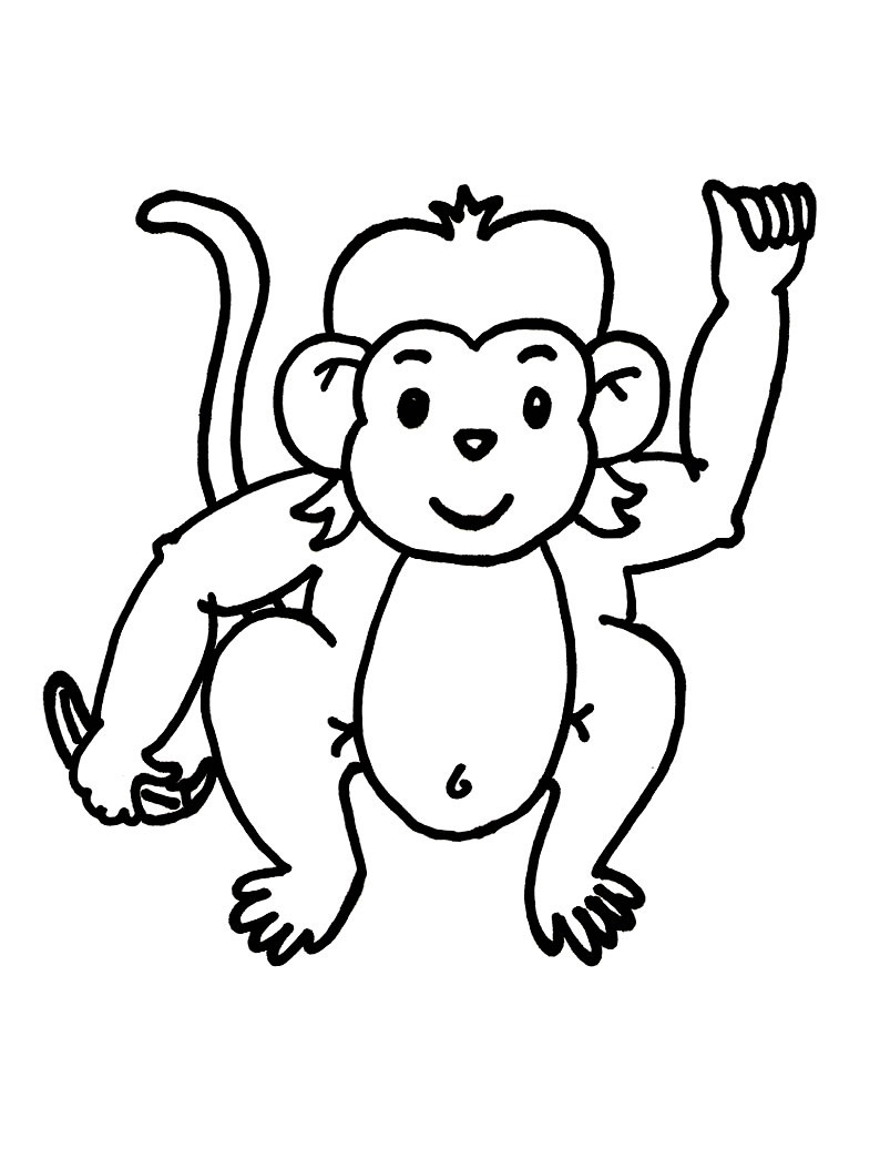 794x1054 Free Printable Monkey Coloring Pages For Kids