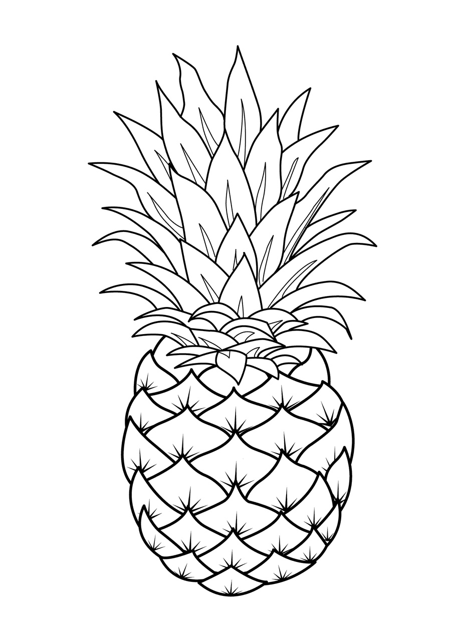 900x1262 fruits coloring pages printable - Cool Coloring Pages For Kids