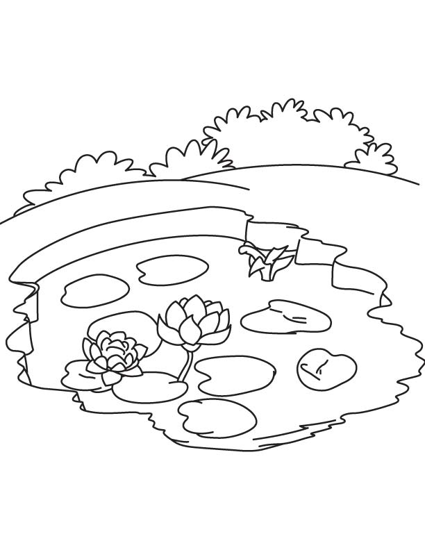 612x792 Lake 450x513 New Coloring Pages Printable