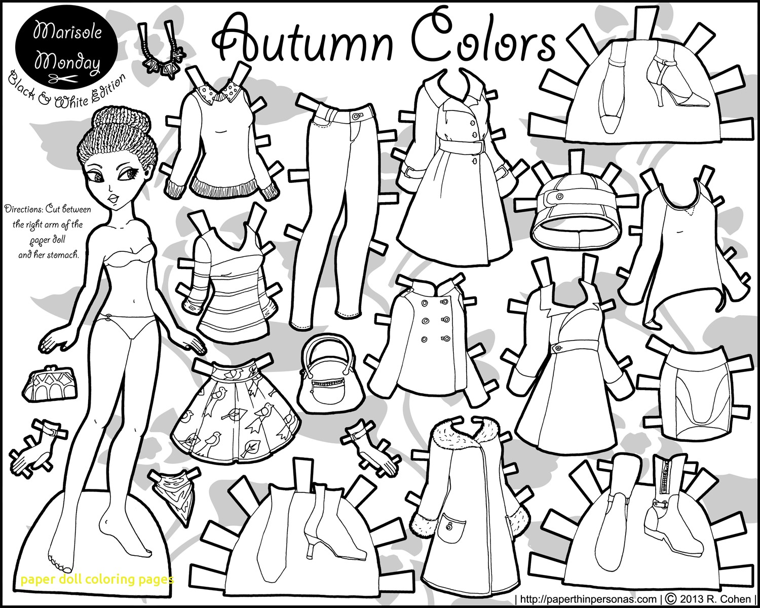 1500x1200 Paper Doll Coloring Pages With Paper Doll Coloring Pages Printable