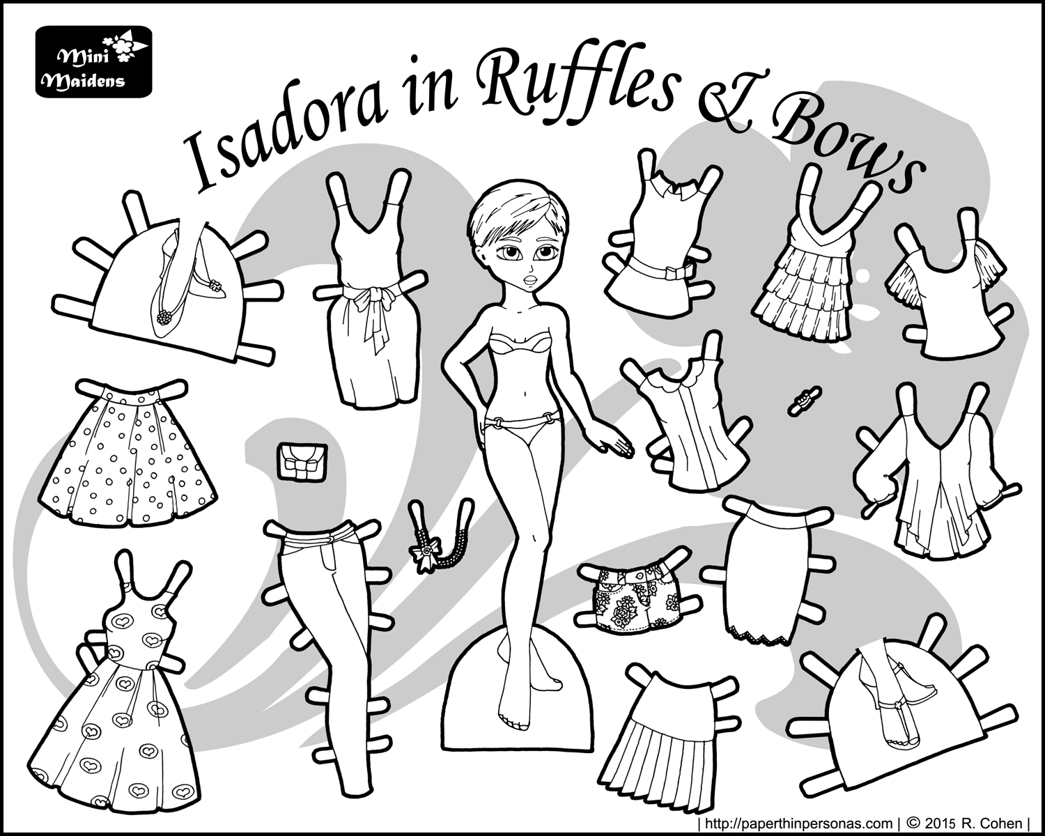 1500x1200 Printable Paper Doll Isadora In Ruffles Printable Paper, Dolls