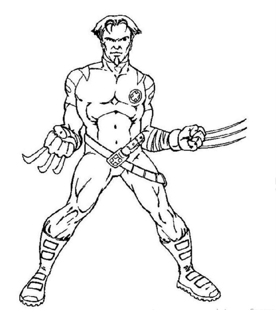900x1011 Coloring Pages X Men Coloring Pages Xmen Free Printable For Kids