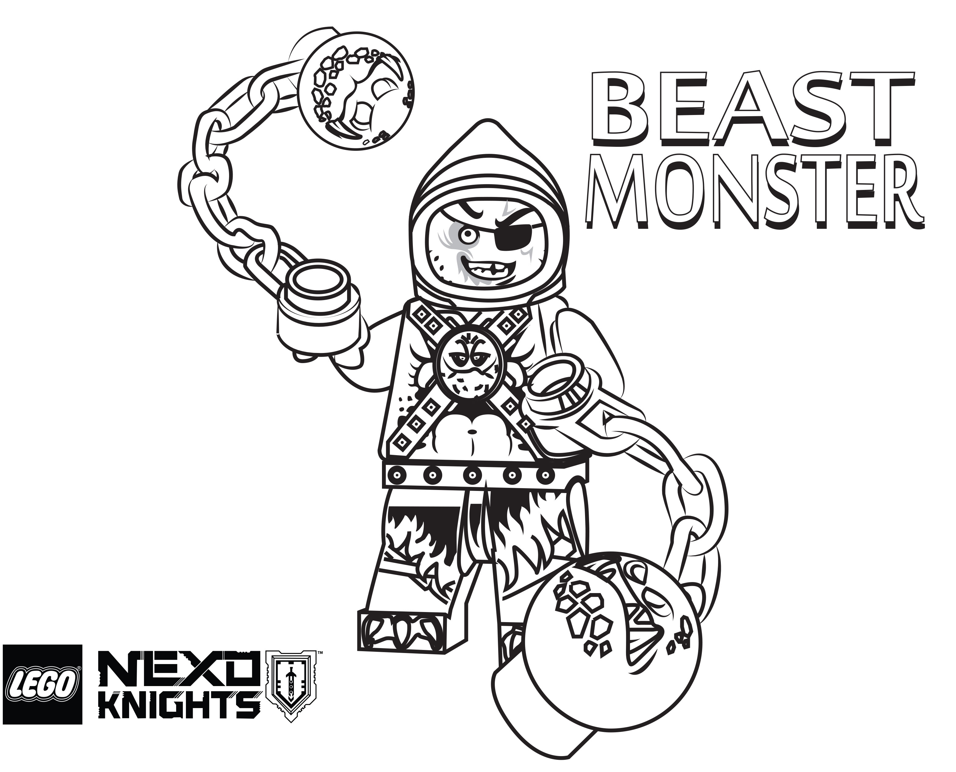 3126x2524 LEGO Nexo Knights Coloring Pages Free Printable