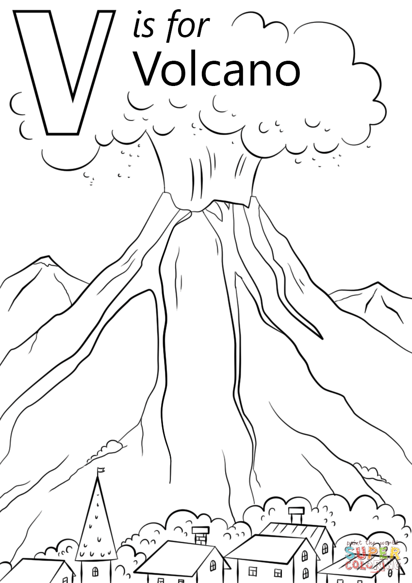 849x1200 Volcano Printable Coloring Sheet Tags Volcano Coloring Sheet How