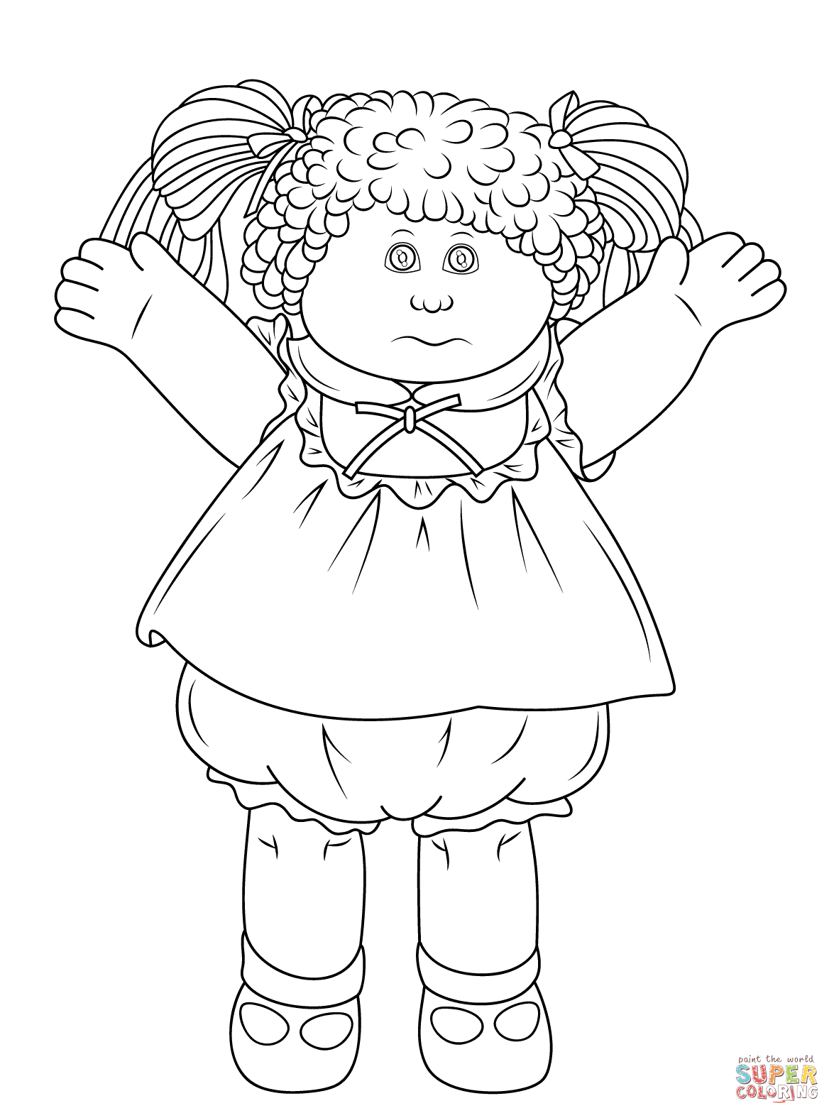 1175x1575 Cabbage Patch Doll Coloring Page Free Printable Coloring Pages