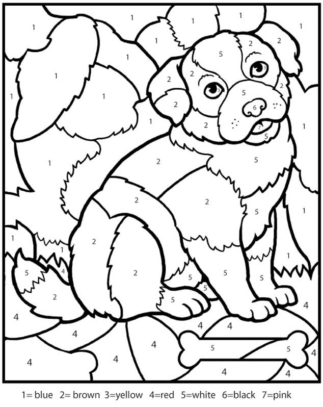 634x798 Free Printable Color By Number Coloring Pages