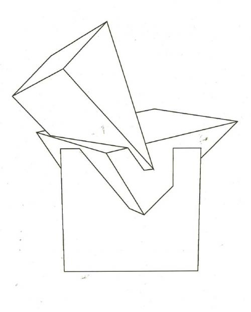 500x621 Prism Chair Rendering, Designed By Fred Baier, 1989