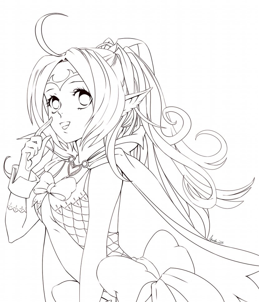 829x965 Nowi Line Art By Arenheim On I Love To Color
