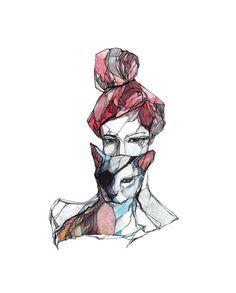 236x293 Cocoon Illustration By Miroosa Ink, Pen, Pencil Amp Prismacolor