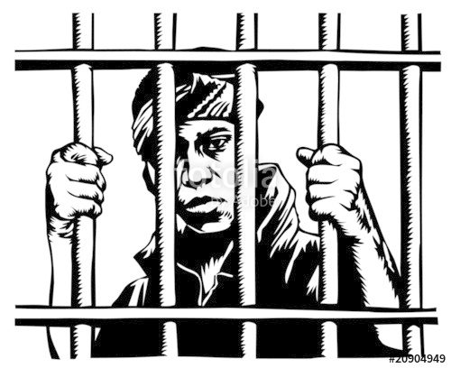 500x408 Young Man Behind Bars Stock Image And Royalty Free Vector Files