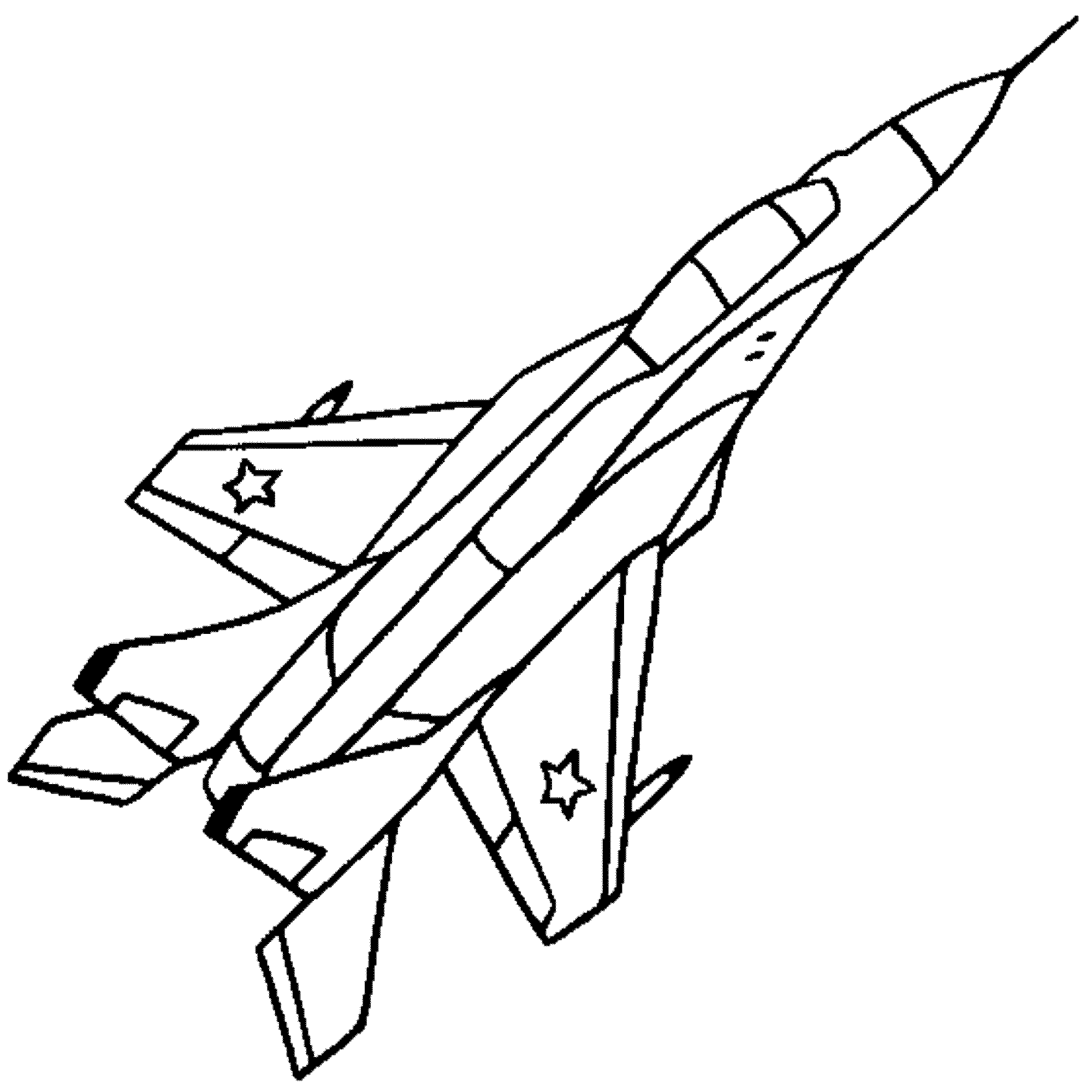 2000x2000 Jet Coloring Pages