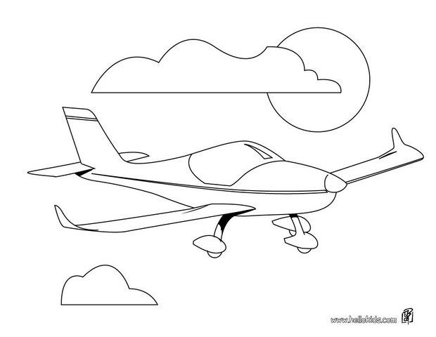 620x480 Private Aircraft Coloring Pages