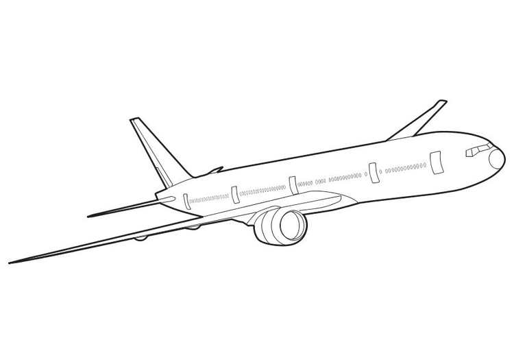 750x531 Coloring Page Boeing 777