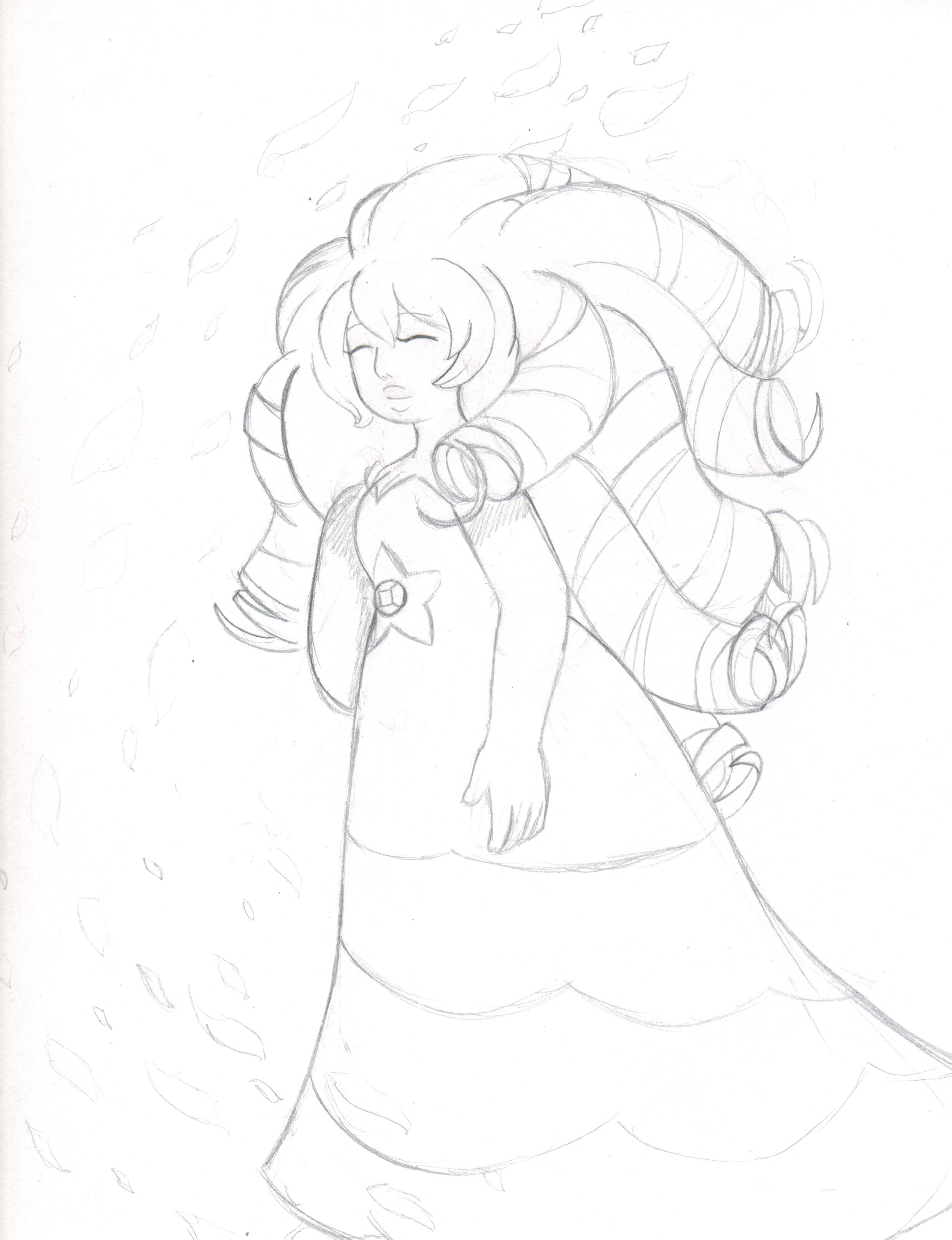 2479x3229 Rose Quartz Drawing By Proxamina