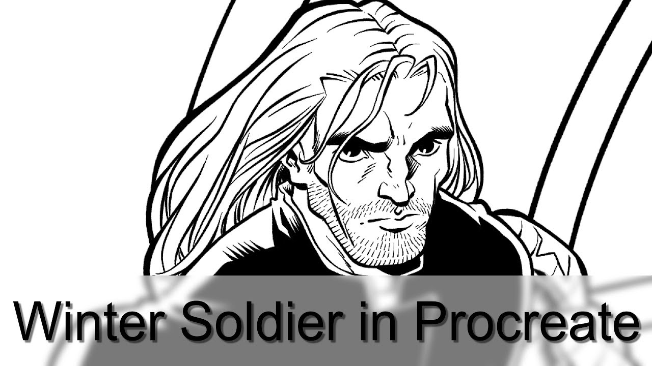 1280x720 Drawing Winter Soldier In Procreate App On The Ipad Pro