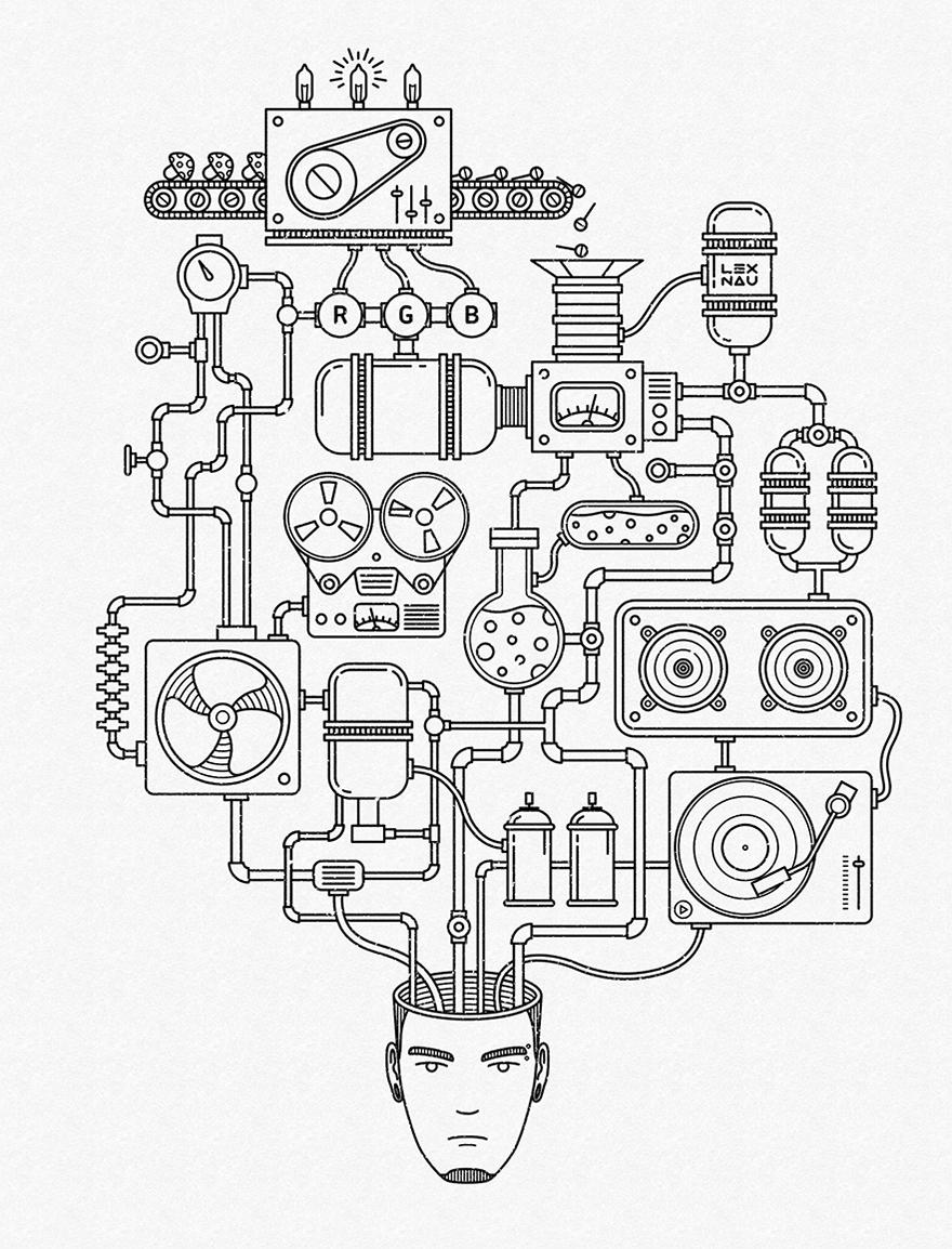 880x1154 Creative Process By Lex Nau Illustrations Mono Weight Line