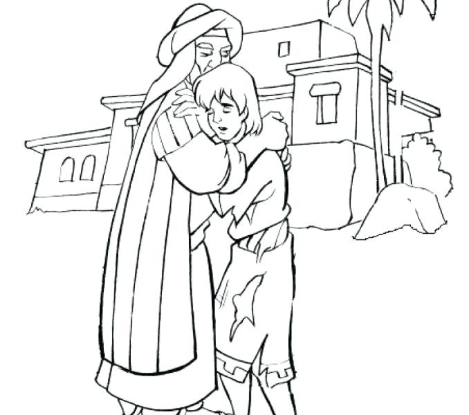 678x600 Prodigal Son Coloring Page Prodigal Son Coloring Page Parable