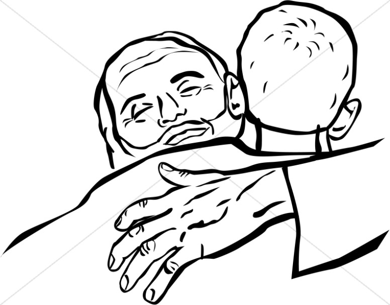 776x607 The Father Embraces The Prodigal Son Clipart New Testament Clipart