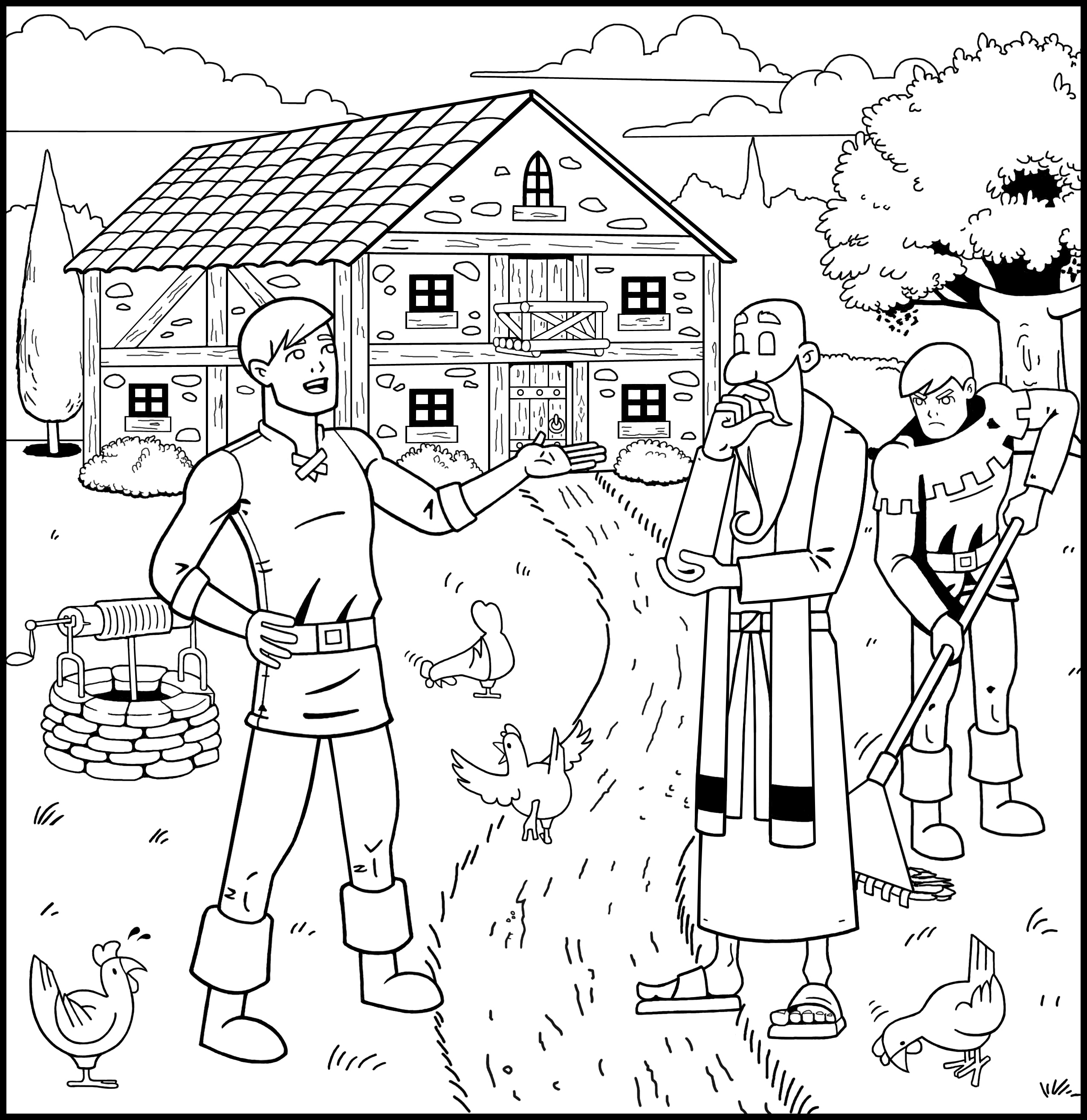 2550x2625 The Prodigal Son Returns Coloring Book Good Treasure Tales
